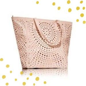 Bath & Body Works rose gold laser cut tote bag